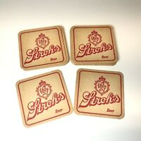 20 Vintage STROH'S BEER Cardboard BAR COASTERS 2-Sided UnusedCollectible Strohs