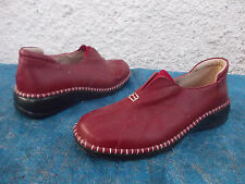 JUST BEE DARK RED GENUINE LEATHER & LEATHER LINED COMFORT SHOES-SZ 37/6.5 AS NEW