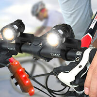 Super Bright Bike Front Light T6 LED USB Rechargeable Zoomable Head Lamp Cycling