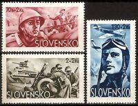 DR Nazi Slovakia Rare WWII Stamp 1943 Legion Soldier Attack Luftwaffe Scenes War