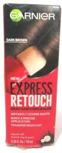 Garnier Express Retouch Gray Hair Concealer - Dark Brown - 0.34 fl oz. New