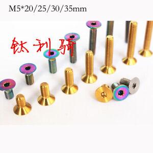 10pcs M5*20/25/30/35mm Titanium Countersunk head bicycle Headset Cover screw