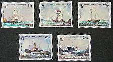 Timbres AURIGNY - Stamp ALDERNEY - Yvert et Tellier n°32 à 36 n** (cyn3)