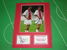 Rare Ronald & Frank de Boer Dual Signed AFC Ajax Mount