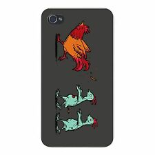 Zombie Attack Rooster Chased Chickens FITS iPhone 5 5s Snap On Case Cover New