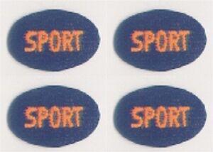 "5/8 "" x 1 "" Bleu Ovale Orange Sport Broderie Patch"