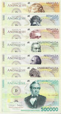 Nation of Andaqesh Banknoteset 1000-50000 Finto 2014  Unc Private, Specimen Note