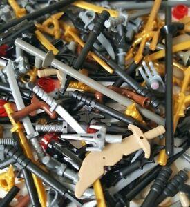 LEGO 50x Weapons Mix Swords Guns -  Ninjago Star Wars Knights Pirates