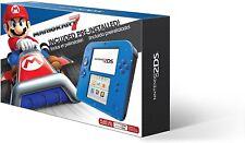 Nintendo 2ds Mario Kart 7 4gb Bleu electrique portable Système Garantie 3 ans