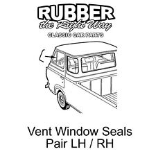 1961 - 1967 Ford Econoline Van Vent Window Seals - pair
