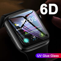 6D UV Liquid Tempered Glass Screen Protector For Apple Watch iWatch 4 3 2 42/44