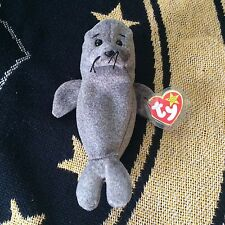 TY Beanie Baby Slippery the Seal *Mint Condition* with Errors