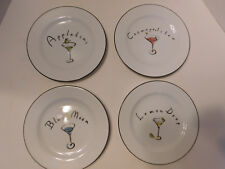 Nib Pottery Barn Martini Cocktail Plates Lot 4 New Box Dessert Appetizer Retired