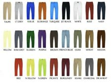 Victorious Mens Colored Twill Skinny Fit Jeans Pants Casual