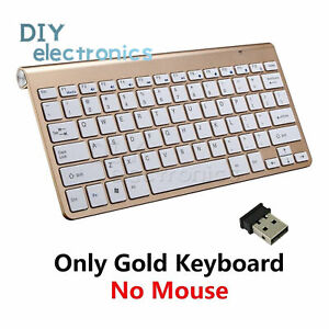 USB Wireless Slim Keyboard and Cordless Mouse 2.4GHZ Combo Kit Set for PC US