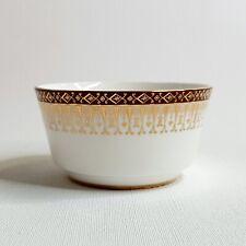 """Majestic"" Royal Grafton Fine Bone China Sugar Bowl Gold & Burgundy"