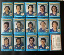 15 1980 SCANLENS CARDS FITZROY TEAMSET ROBERT WALLS, LIGHTLY MARKED CHECKLIST