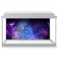 Fish Tank Background 90x45cm - Awesome Purple Galaxy Space NASA  #8924
