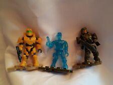 Mega Bloks Construx lot of Halo figures with weapons set 3 mini action toys