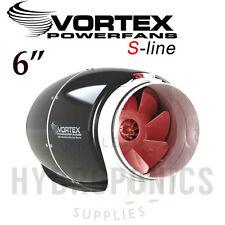 """Vortex S-Line Ultra Quiet Duct Inline Fan 6"""" inch 347 CFM for Grow Rooms"""