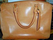 BRAHMIN Honey Topsail Leather Satchel w/detachable crossbody strap,good used