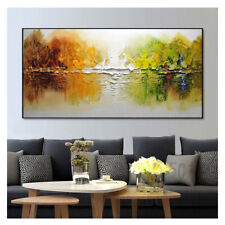 SS147 Large Hand-Painted Scenery oil painting on canvas Abstract art Unframed 48