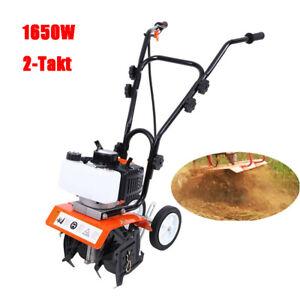2-Takt Benzin Gartenhacke Motorhacke Bodenfräse Kultivator Fräse Hacke 1.65kW
