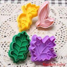 Leaf Shape Fondant Cake Cutter Plunger Cookie Mold Sugarcraft Decorating Mould