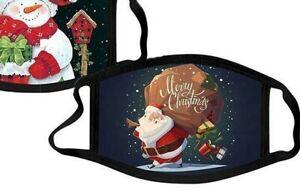 Children's Christmas Themed Face Mask -- Santa