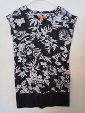 New Women's Joe Fresh Black & White Floral Sleeveless Tank Dress Size Medium