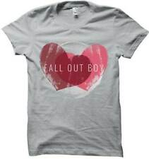 FALL OUT BOY WEATHERED HEARTS T-SHIRT USA IMPORT  SHORT SLEEVE   COTTON GREY