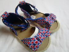 Nwt Baby Girl size 9-12 month Red Blue sandals July 4th Summer Vacation