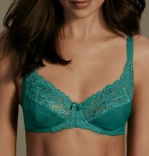 34A M&S FLORAL LACE UNDERWIRED FULL CUP BRA ~ Sea Green ~ BRAND NEW ~ *RRP £16*