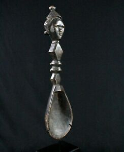 "Art Africain Tribal - Ancienne Cuillère Dan ""Wakémia"" sur Socle - 57 Cms +++++++"