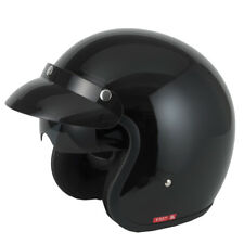 VCAN V537 Open Face Motorbike Motorcycle Scooter Jet Retro Helmet Matt Black