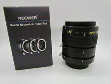 Neewer Macro Extension Tube Set 12mm 20mm 36mm for Nikon AI LENSES