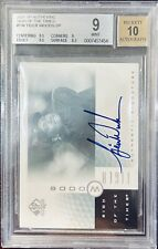 2001 SP AUTHENTIC TIGER WOODS ROOKIE AUTO SIGN OF THE TIMES BGS 9