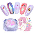 Pink Unicorn AB Nail Sequins Iridescent Glitter Flakies Decoration BORN PRETTY
