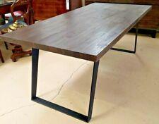 """Urban Loft 78"""" Dining Table Dark Brown"""