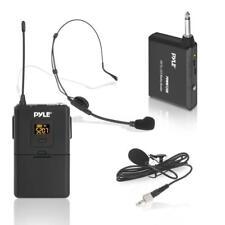Pyle Wireless Microphone System, Beltpack Transmitter W/ Headset & Lavalier Mics