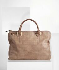 Rare PAUL SMITH Lucy Bag  Dusty Grey Mock Croc Leather Purse Bag $1395 Brown