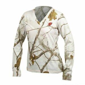 "Scent Blocker Women's Fused Cotton L/S T-Shirt Snow Camo Sm NWT'S CHEST 35-36"""