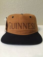 NWT American Needle GUINNESS BEER Poly/Wool Hat Tan/Black Adult Adjustable NEW