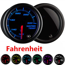 "2"" Coolant Water Temp Gauge Thermo 100-300 Fahrenheit Meter 1/8 NPT 7 LED Color"