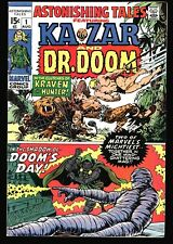 ASTONISHING TALES #1 Ka-Zar vs. Kraven by Kirby, Dr. Doom solo series VG-F