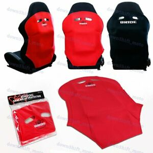 X1 JDM Red Racing Seat Protector Cover Pure Cotton Seat Dust Boot Bride logo New