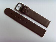 Watch Strap Leather brown 18 mm slide strap fastening screws SKAGEN BERING brown