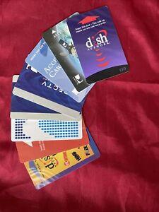 Assortment Of Satellite Receiver Program Credit Cards 💳