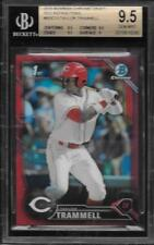 2016 Bowman Chrome Draft Red Refractor Taylor Trammell 2/5 BGS 9.5