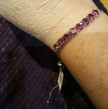 925 Sterling Silver Swarovski Crystal W/ Platinum Bracelet Adjustable NEW!